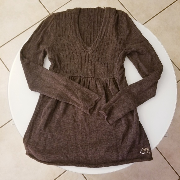 Roxy Sweaters - Like New! Hooded Roxy Empire Waist Pullover
